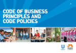 Code of Business Principles and Code Policies