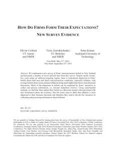 how do firms form their expectations? new survey evidence