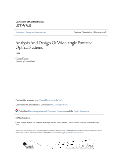 Analysis And Design Of Wide-angle Foveated Optical