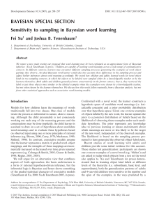 Sensitivity to sampling in Bayesian word learning