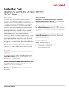Quadrature Speed and Direction Sensors, SNG