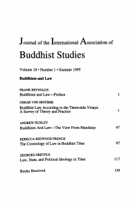 Buddhism and Law – The View From Mandalay
