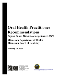 Oral Health Practitioner Recommendations