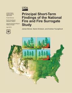 Principle short-term findings of thenational Fire and Fire Surrogate Study (FFS).