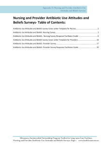 Appendix D: Nursing and Provider Antibiotic Use Attitudes and Beliefs Surveys (PDF: 417KB/29 pages)
