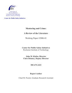 Mentoring and Crime: A Review of the Literature