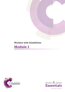 Module 1: Workers with Disabilities
