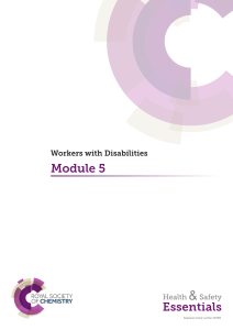 Module 5: Workers with Disabilities
