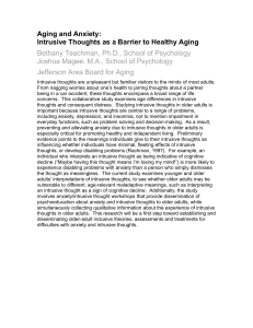 Aging and Anxiety: Intrusive Thoughts as a Barrier to Healthy Aging