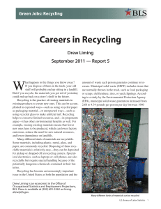 PDF Version of Careers in Recycling