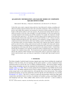 Quasistatic Deformation and Failure Modes of Composite Square Honeycombs
