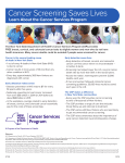 Learn About the Cancer Services Program