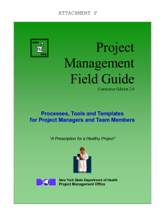 Attachment F: DOH Project Management Office Field Guide for Contractors