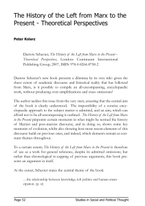 'D. Schecter, The History of the Left from Marx to the Present - Theoretical Perspectives' [PDF 13.76KB]