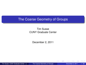 The Coarse Geometry of Groups
