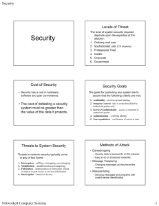 Slides on Security