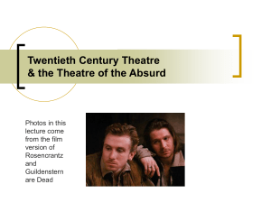 Lec #12 Theatre of Absurd