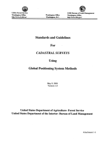 Standards and Guidelines for Cadastral Surveys Using Global Positioning System Methods