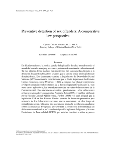 Preventive Detention of Sex Offenders: A Comparative Law Perspective,