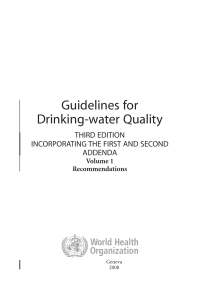 Guidelines for drinking-water quality, third edition
