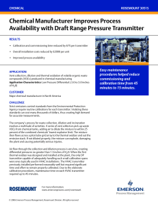 Proven Result: Chemical Manufacturer Improves Process Availability with Draft Range Pressure Transmitter