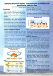 Poster 1 - Jason Crean - Applying seasonal climate forecasting for profitable and sustainable resource use