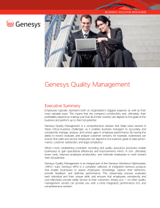 Genesys Quality Management