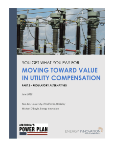 moving toward value in utility compensation