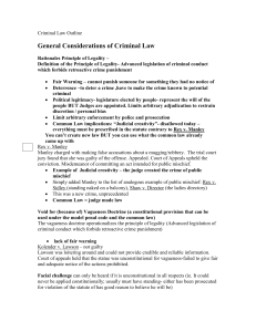 Criminal Law Outline - Free Law School Outlines Professor Subject