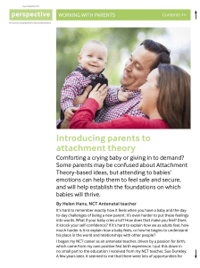 Introducing parents to attachment theory