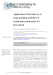 Application of kin theory to long-standing problem in nematode