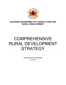 Gauteng Rural Development Strategy