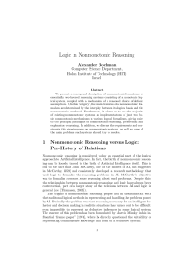 Logic in Nonmonotonic Reasoning