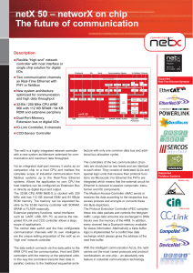 netX 50 – networX on chip The future of communication