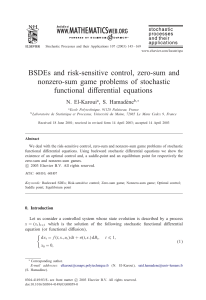 BSDEs and risk-sensitive control, zero-sum and nonzero