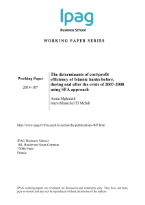 The determinants of cost/profit efficiency of Islamic banks