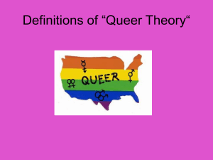 "Definitions of ""Queer Theory"""
