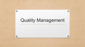 Quality management system concludes of