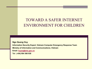 Challenges of protecting safety internet enviroment for children in