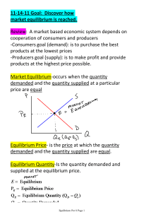 Chapter 6 Equilibrium Surplus Shortage 11-14-11