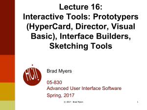 Interface Builders, Sketching Tools