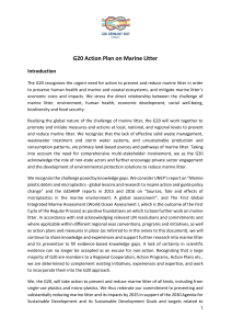 G20 Action Plan on Marine Litter