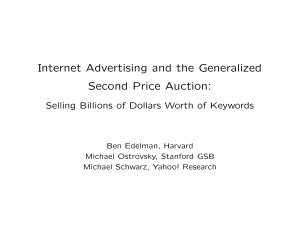 Internet Advertising and the Generalized Second Price