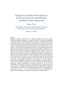 Regression models with responses on the unit interval