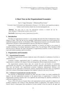 A Short Note on the Organizational Economics