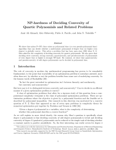 NP-hardness of Deciding Convexity of Quartic Polynomials and