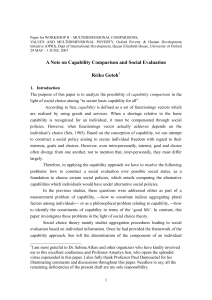 Social choice problem in Capability Approach