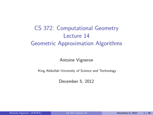 CS 372: Computational Geometry Lecture 14 Geometric