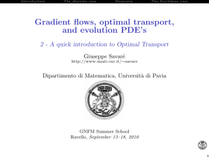 A quick introduction to Optimal Transport