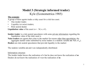 Market Microstructure 1 The institutional Framework